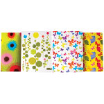 Silvine Summer Gardens A4 Notebook pack of 4