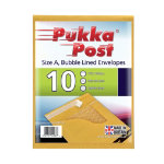 Pukka size A gold bubble lined envelopes pack of 10