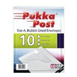Pukka size A white bubble lined envelopes pack of 10