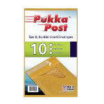 Pukka size B gold bubble lined envelopes pack of 10