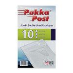 Pukka Pad Bubble Lined Envelopes Size B White Plain Pack 10