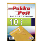 Pukka size C gold bubble lined envelopes pack of 10