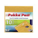 Pukka Pad Bubble Lined Envelopes Size CD CD Gold Plain Pack 10