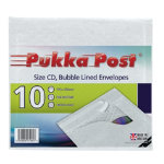Pukka CD sized white bubble lined envelopes pack of 10