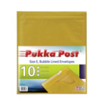 Pukka size E gold bubble lined envelopes pack of 10
