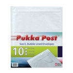 Pukka size E white bubble lined envelopes pack of 10