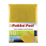 Pukka size G gold bubble lined envelopes pack of 10