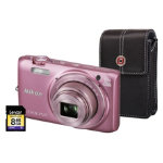Nikon Coolpix S6800 Pink Camera inc 8GB SD Card and Case