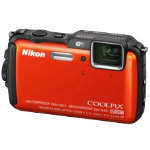 Nikon Coolpix AW120 16MP Camera Orange