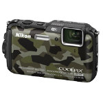 Nikon Coolpix AW120 16MP Camera Camo