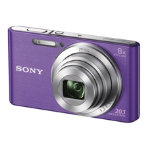 Sony DSC W830 Camera 201MP Purple
