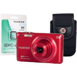 Fuji FinePix JX660 Red Camera Kit inc 8GB SD Card and Case