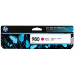 Original HP No980 magenta printer ink cartridge D8J08A