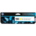 Original HP No980 yellow printer ink cartridge D8J09A