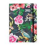Letts Notelett Week to View diary 2015 A5 with Shalimar Kingfisher design