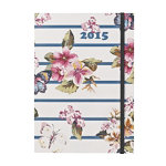 Letts Notelett Week to View diary 2015 A5 with Shalimar Butterfly design