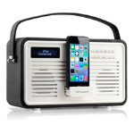 View Quest Retro DAB Radio with Lightning Dock Black