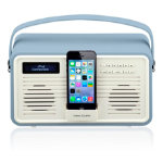 View Quest Retro DAB Radio with Lightning Dock Blue