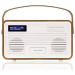 View Quest Retro DAB Radio with Lightning Dock Brown