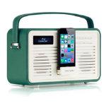 View Quest Retro DAB Radio with Lightning Dock Emerald Green