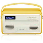 View Quest Retro DAB Radio with Lightning Dock Mustard