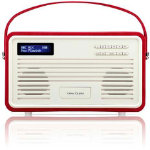 View Quest Retro DAB Radio with Lightning Dock Red