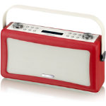 View Quest Hepburn Bluetooth DAB Radio Red