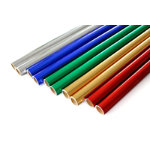 Metallic 500mm x 15m paper rolls assorted pack of 10