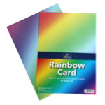 Rainbow A4 card pack of 30 sheets