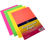 Flourescent A4 border paper pack of 100 sheets