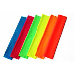 Flourescent crepe paper 500mm x 25m assorted pack of 6