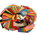 Bumper craft paper pack 530 sheets in assorted sizes and colours