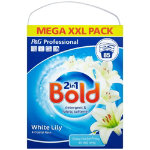Bold 2 in 1 white lily detergent and fabric softener 552kg 85 washes