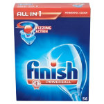Finish All in one dishwasher tablets original box of 56