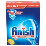 Finish All in one dishwasher tablets lemon box of 56