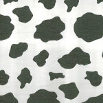 Printed Crepe Paper for costume cow design