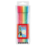 STABILO Pen 68 Fibre Tip Pen pack of 6 Assorted Fluorescent Colours