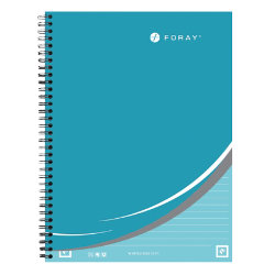 Whitelines by Foray A4 twin wire hardback notebook ruled 160 pages 80 gsm turquoise