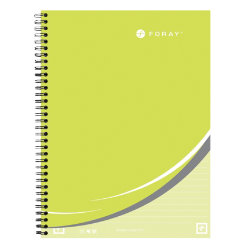 Whitelines by Foray A4 twin wire hardback notebook ruled 160 pages 80 gsm lime green