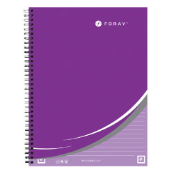 Whitelines by Foray A4 twin wire hardback notebook ruled 160 pages 80 gsm purple