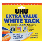UHU White Tack reusable economy pack 100g