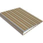 Multi coloured Striped Ring binder A4 2 rings 25mm