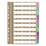 Impact Stripe board dividers A4 pack of 10