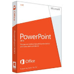 Microsoft PowerPoint 2013 32 bit X64 English non commercial licence medialess