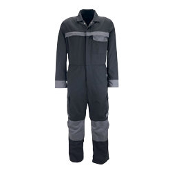 Tungsten Coverall black with grey piping size large waist extra tall leg