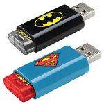 Emtec C600 Batman Superman USB 20 drives 8GB twin pack