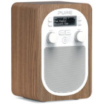 Pure D2 Evoke portable DAB and FM radio oak