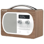 Pure D4 Evoke portable DAB and FM radio oak