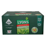 Lyons original blend tea box of 600 1 cup tea bags