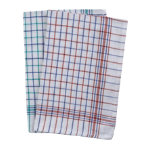 Caterers check tea towels assorted 10 pack